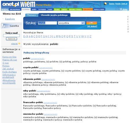 Einsprachige Wörterbücher Polnisch