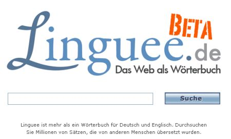 Linguee kontextbasierte Übersetzungen Englisch Deutsch
